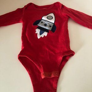 Pekkle Spaceship One Piece Bodysuit Size 18 Months